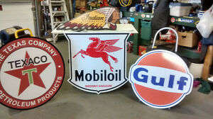LARGE METAL GAS AND OIL SIGNS