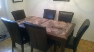 Diningroom set with 6 chairs, pick up only in Scarborough.
