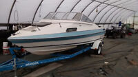 1987 19.5 invader 120 outboard evenrude with cuddy