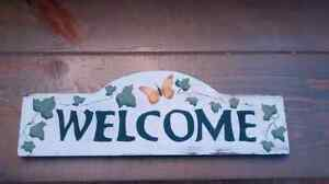 Welcome sign - wooden