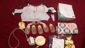 Assorted baby and breast feeding stuff