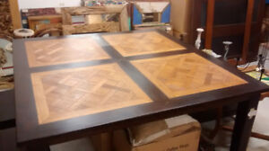 "Amazing 60"" square TEAK WOOD dining table"