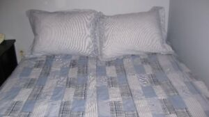 comforter ,shams bed skirt ,double set of matching sheets