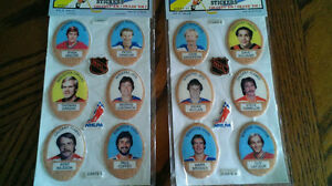Série puffy sticker HOCKEY  COLLECTION 1983 COMPLETE avec Album