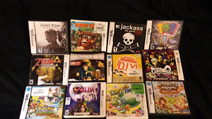 Various DS and 3DS games and game cases