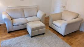 DFS Tilly 3 piece sofa bed, armchair and poof (can deliver in Bristol)