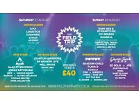 2x Field Trip Festival Adult Weekend Camping Ticket For Sale