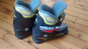 Kids Head Ski Boots, fits 3-4 yr old shoe size 9-11