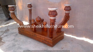 sghdga Wooden carved dining pillars and dining chairs asddfvxc