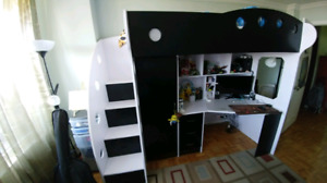 Bunk Bed and work area