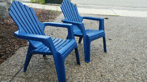 Kids Blue Muskoka Chairs