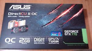 GTX 770 OC 2GB DDR5 ASUS A VENDRE **URGENT**