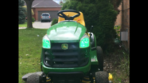 ★John Deere Projector 360 degree bright green lawn mower lights★