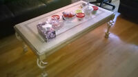 ** 3 - pc - Solid - Forged Iron - Coffee Table & 2 End Tables**