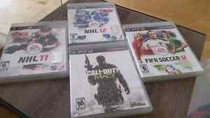 PlayStation PSS3 Games NHL11-12 FIFA SOCCER 12 CALL OF DUTY MW3