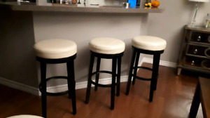 3 bar height and 1 counter height stools