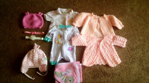 Baby girl's clothes and headbands 0-3 months