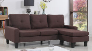 Logan Sectional Sofa with chaise Brown & Chocolate Color $429