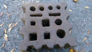 Swage Block with Metal Stand