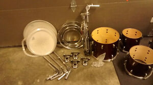 5 piece pearl session series drum kit