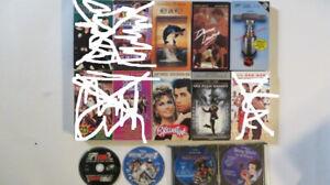 Plusieurs films sur cassettes 17 VHS  et 4 DVD
