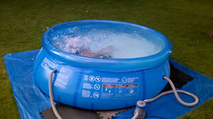 8 Foot Round Hydro-Force Fast Set Pool
