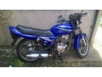 2008 sanya 125 learner legal long mot runs and rides £350