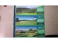 Scottish golf show vouchers for sale