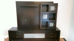 Meuble de télé en vrai bois