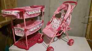 Doll Stroller and crib