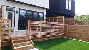 Beautifully crafted custom woodworking , decks, fences and more