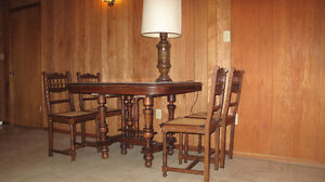 price reduced Antique Gothic dining table & 4 chair from Belgium Edmonton Edmonton Area image 1