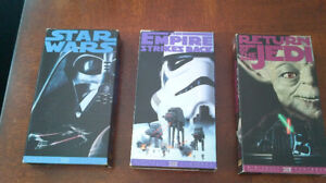 Star Wars Trilogy and Phantom Menace VHS Tapes