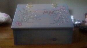Hand Painted Mailbox for outdoors or indoors