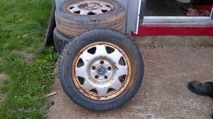 "4 Honda 15"" steel rims"