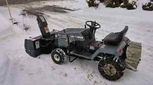 "40"" lawn tractor snow blower"