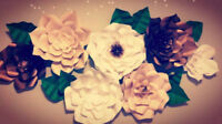 Premium Paper Flower, Made to order or Rent.
