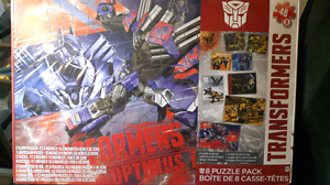 8 pack Transformers Puzzles