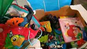Misc box of toys and books Prince George British Columbia image 1