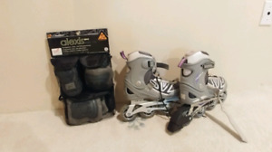 Rollerblades and pads