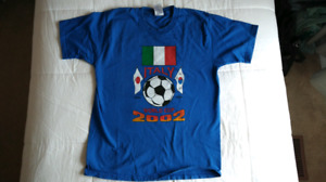 Italy World Cup soccer t-shirts, 1998 and 2002