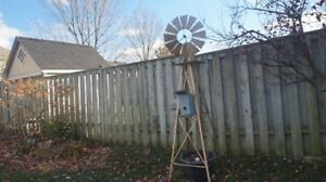 METAL GARDEN WINDMILL 88 INCH TALL 22 INCH WIDE