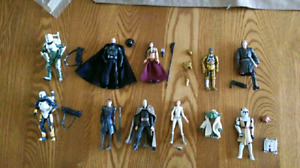 Star Wars Figures Darth Vader, C3PO, clone wars and more!