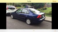 Honda Civic 2001 blue automatic 245Km car starter