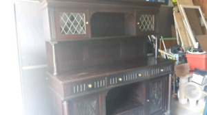 Antique buffet with claw feet