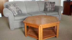 Coffee table and pullout couch