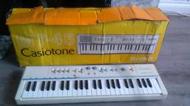 Vintage Casio casiotone MT 45 keyboard untested