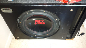 MTX 12 inch subwoofer with amp