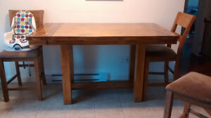 Bar high 9 piece dining table