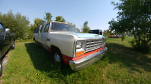 1981 Dodge Power Wagon crew cab package deal